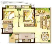 万科里享水韵2室2厅1卫75平方米户型图