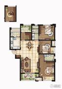 康桥悦岛3室2厅2卫142平方米户型图
