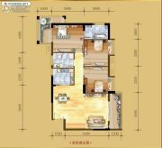 香岸华府二期3室2厅2卫114平方米户型图