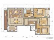 新地中心3室2厅3卫212平方米户型图