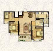 恒大御景湾3室2厅1卫106平方米户型图
