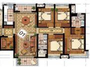 华润天合4室2厅2卫140平方米户型图