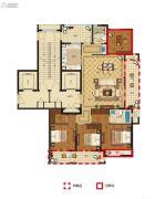 丽江半岛4室2厅2卫140--163平方米户型图