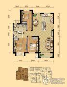盛泽伯爵山3室2厅2卫118平方米户型图