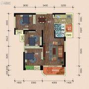 半山�庭3室2厅1卫101平方米户型图
