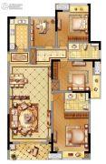 黄龙金茂悦4室2厅2卫128平方米户型图