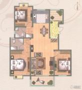 金轮星城3室2厅2卫136平方米户型图