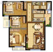 德杰・德裕天下3室2厅1卫96平方米户型图