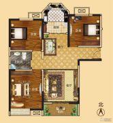 新龙御都国际3室2厅1卫122平方米户型图