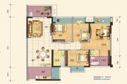 广联蓝爵花园4室2厅2卫112平方米户型图