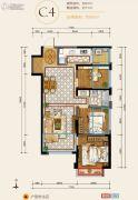 华润・中央公园3室2厅1卫84平方米户型图