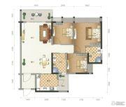 星尚3室2厅2卫92平方米户型图