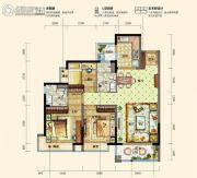 碧桂园松湖珑悦3室2厅2卫105--107平方米户型图