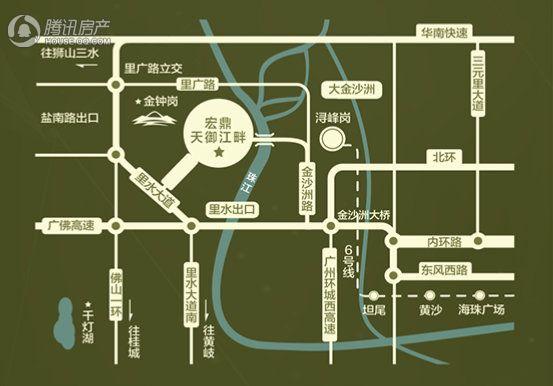 宏鼎天御江畔交通图