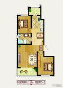 龙鸿怡家2室2厅1卫0平方米户型图