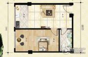 金山翰林苑1室1厅1卫46平方米户型图
