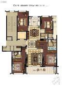 滨江保利・翡翠海岸4室2厅3卫164平方米户型图