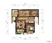 九方城2室2厅2卫94平方米户型图