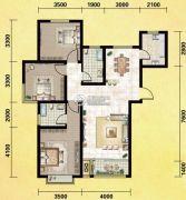 丽晶名邸3室2厅1卫127平方米户型图