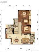 中海阅江阁3室2厅1卫89平方米户型图