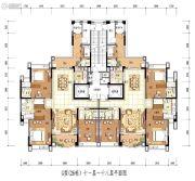 雅居乐白鹭湖3室2厅2卫198平方米户型图