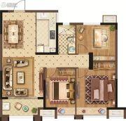 美的城三街区3室2厅1卫100平方米户型图