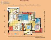 碧桂园・南城首府4室2厅2卫132平方米户型图