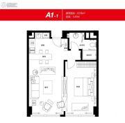 无锡恒大财富中心1室1厅1卫78平方米户型图
