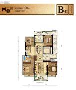 融信江南学府4室2厅2卫128平方米户型图