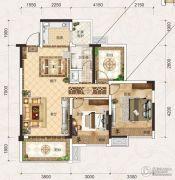 联发君悦壹号2室2厅1卫85平方米户型图