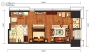 华远国际公寓1室1厅1卫50--55平方米户型图