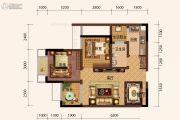 旭阳台北城2室1厅1卫54平方米户型图