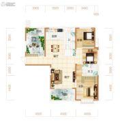 东方美地4室2厅2卫155平方米户型图