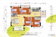 新嘉雅园4室2厅2卫185平方米户型图