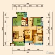 君汇上品2室2厅2卫89平方米户型图