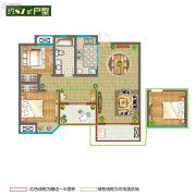 香堤春晓2室2厅1卫87平方米户型图