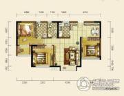 双发东城印象3室2厅2卫96平方米户型图