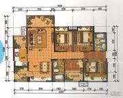 锦发君城4室2厅2卫127平方米户型图