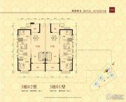 华夏阳光3室2厅2卫116平方米户型图