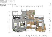 锦峰�Z玺4室2厅2卫173平方米户型图
