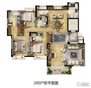 华新城�Z园3室2厅3卫200平方米户型图