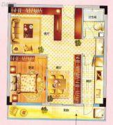 紫晶国际广场1室2厅1卫69平方米户型图