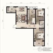 金麦加汇君城3室2厅1卫103平方米户型图