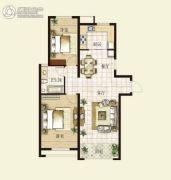 华明星海湾2室2厅1卫97平方米户型图