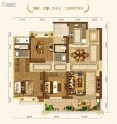 中建・宜昌之星3室2厅2卫124平方米户型图