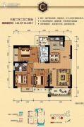 防城港凤景湾3室2厅2卫111平方米户型图