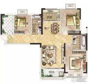 冠景瑞园3室2厅2卫112平方米户型图