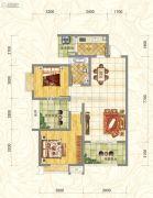 世俊国际2室2厅1卫90平方米户型图