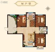 万国园星洲美域3室2厅1卫109平方米户型图
