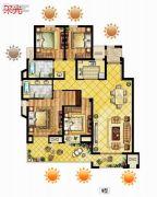 中锐星尚城4室2厅2卫146平方米户型图